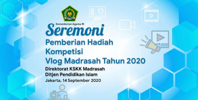 Inilah Juara Madrasah Vlog Competition Tahun 2020