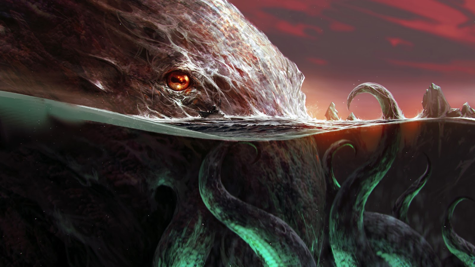 Cthulhu Hd Wallpaper Desktop Cool Wallpapers Heroscreencc