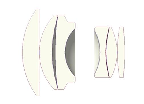 Оптическая схема объектива 7artisans 55mm f/1.4