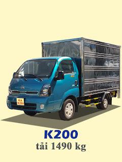 xe tải kia thaco k200 tải trọng 1,4 tấn