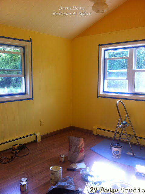 Master Bedroom Painted Wood Paneling Makeover