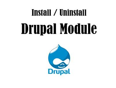 install uninstall drupal module