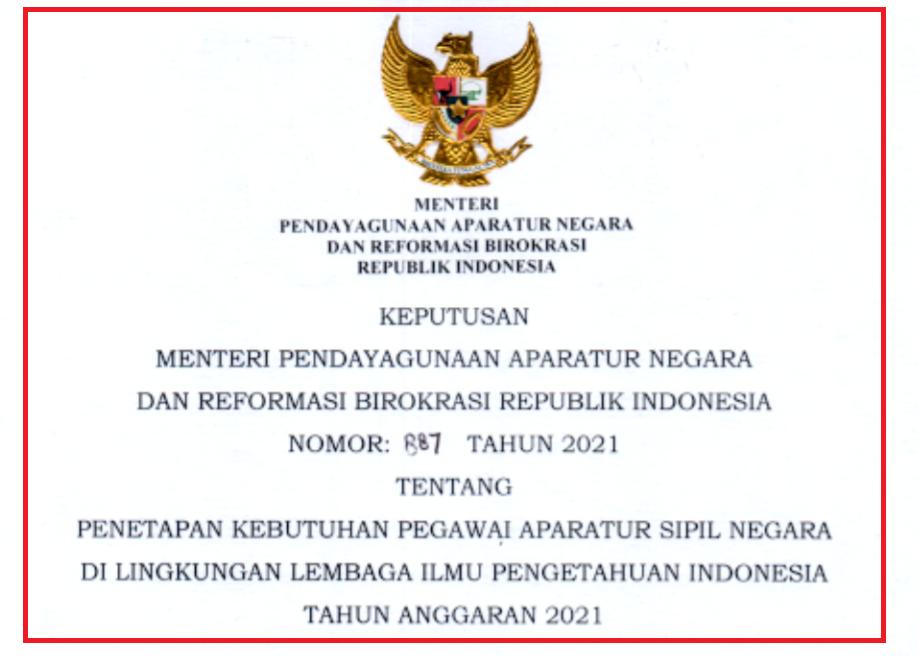 gambar formasi asn/pppk lipi 2021