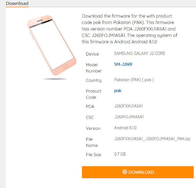Samsung Galaxy J2 Core SM-J260F - CKFIRMWARE