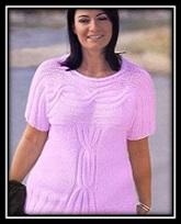 vyazanie spicami dlya polnih jenschin pulover s korotkim rukavom so shemoi i opisaniem