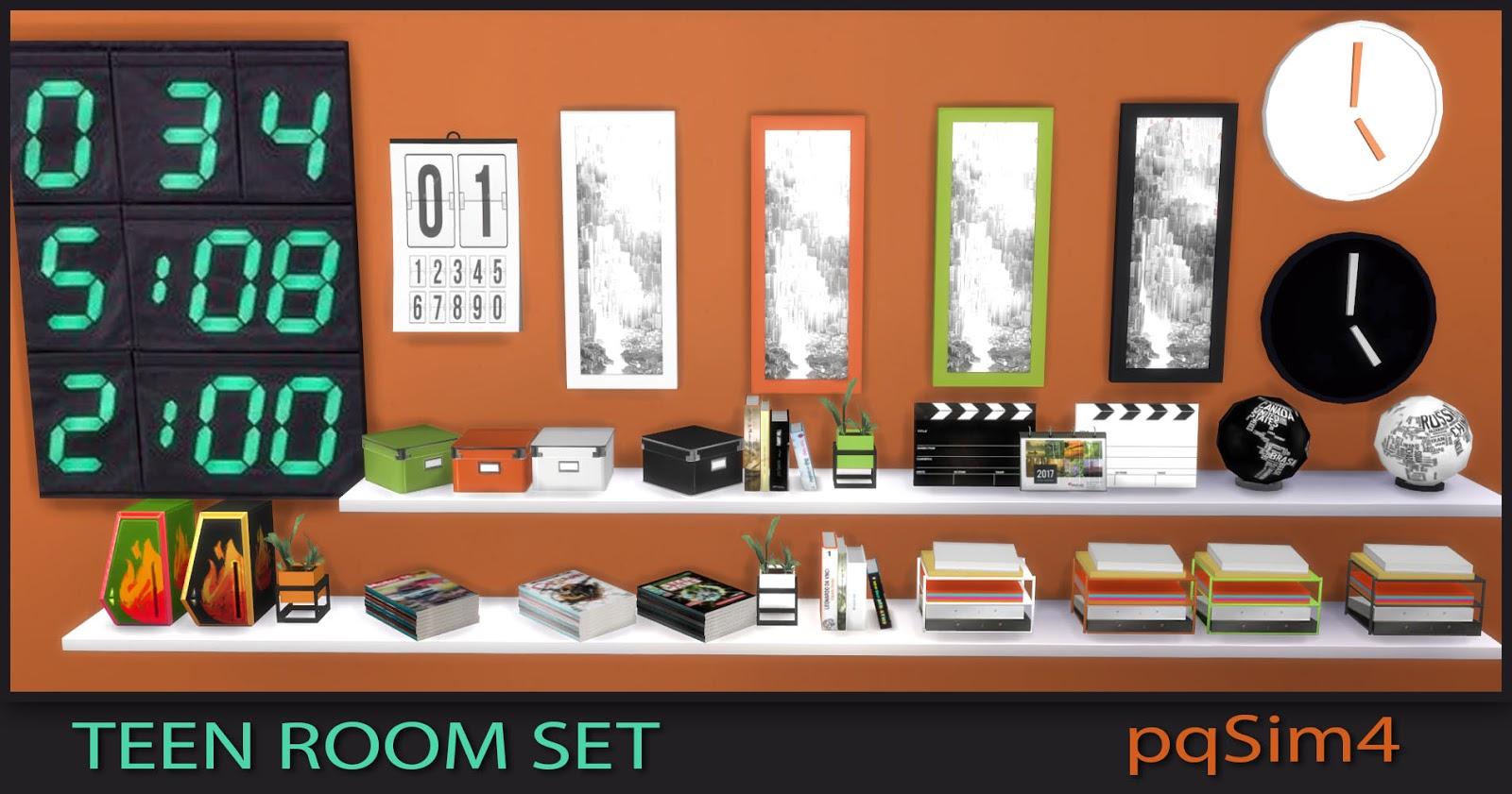 Teen Bedroom Set. Sims 4 Custom Content.