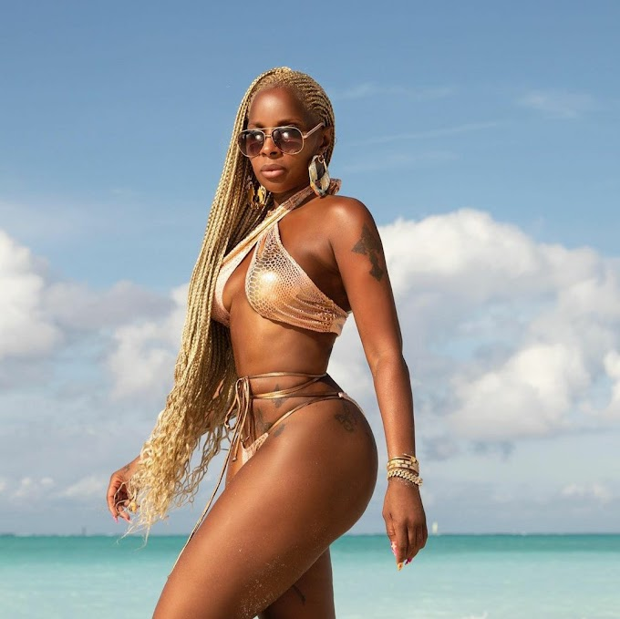 Mary J Blige shows off her body as she turns 50