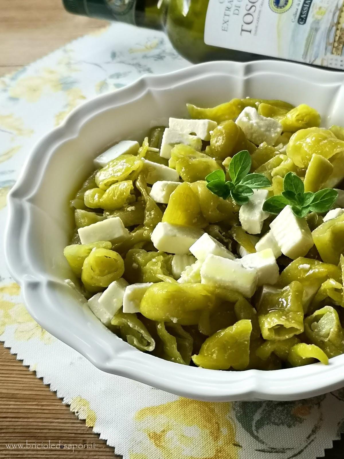 insalata di quartirolo con peperoni lombardi