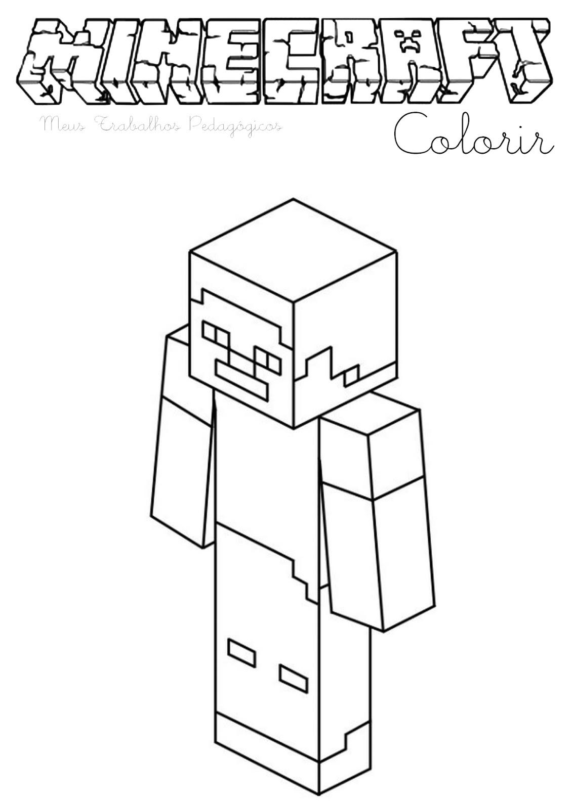 раскраски про миникотика из майнкрафта распечатать #6