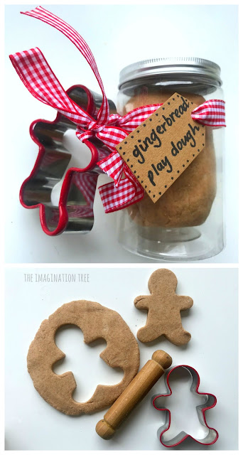 Gingerbread Play Dough Recipe and Gift Idea