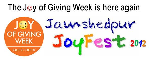 Joy In Giving: Joy Of Giving Week: Jamshedpur JoyFest 2012