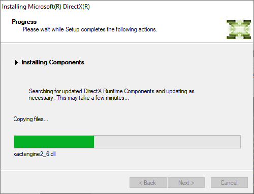Install Microsoft DirectX