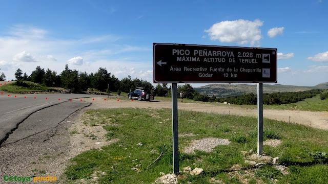 """Ruta circular a Peñarroya """"techo de Teruel"""" saliendo del Collado de la Gitana y pasando por el Refugio de la Chaparrilla."""