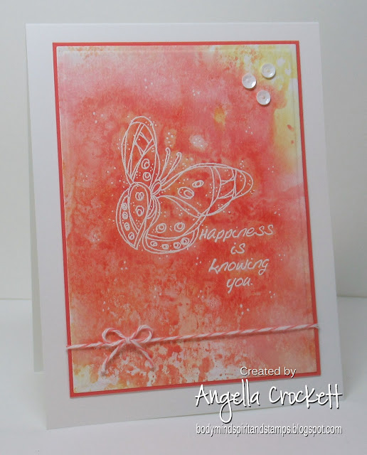 Stampin Up Winged Things; Card Designer Angie Crockett
