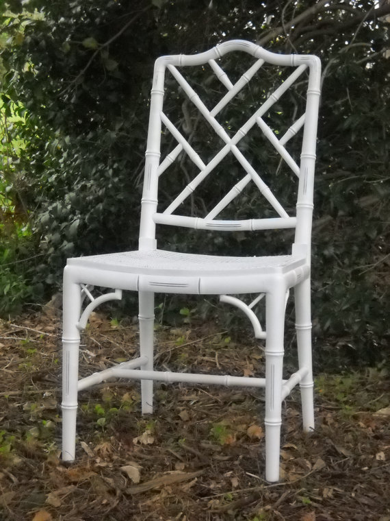 Chinoiserie Chic White Chinese Chippendale Chair HighLow