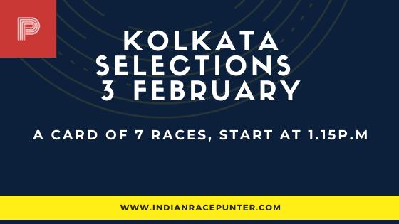 Kolkata Race Selections 3 February