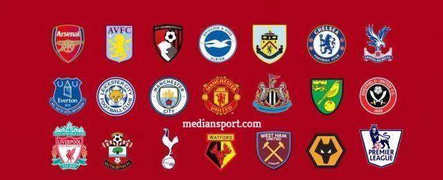Daftar 20 Klub Peserta Liga Inggris 2019-2020.