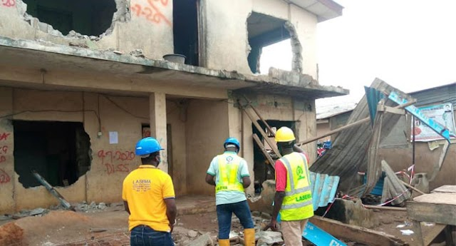 Another building partially collapses at Ikotun, Lagos