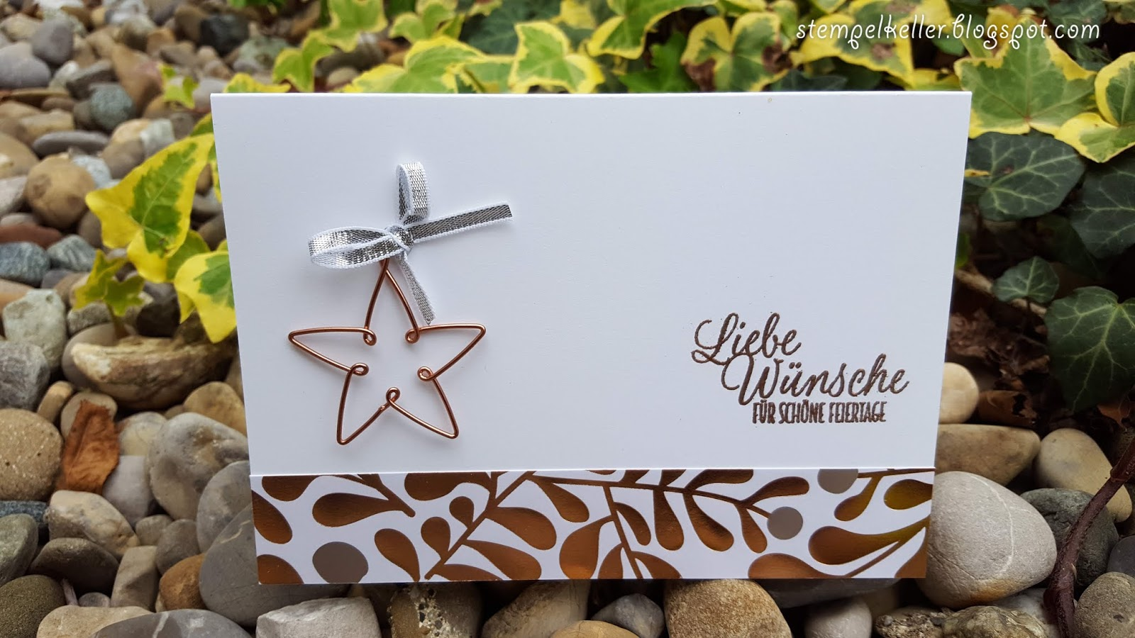 Stempelkeller: Weihnachtskarte mit Drahtstern