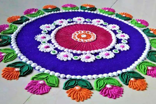 RANGOLI DECORATION - Durga Puja Image Home Decoration Ideas on This Navratri