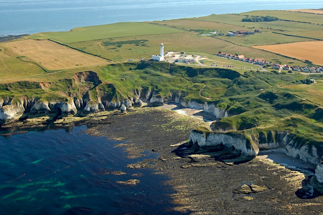 Flamborough Head from the air (looking South)