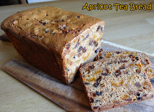 Apricot Tea Bread - Farmersgirl Kitchen