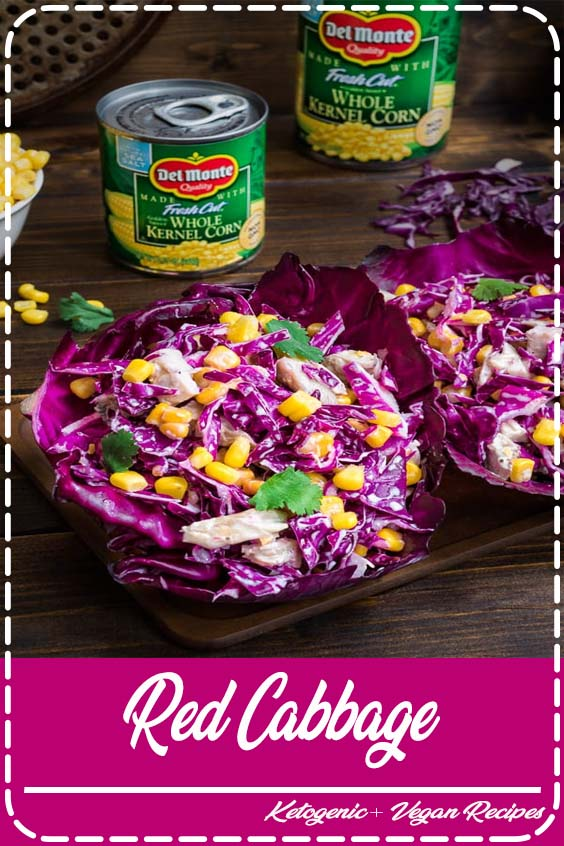 this Red Cabbage and Corn Salad makes a perfect lunch or side dish  Red Cabbage