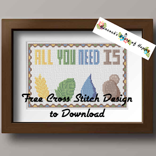 a simple craft beer cross stitch sampler pattern