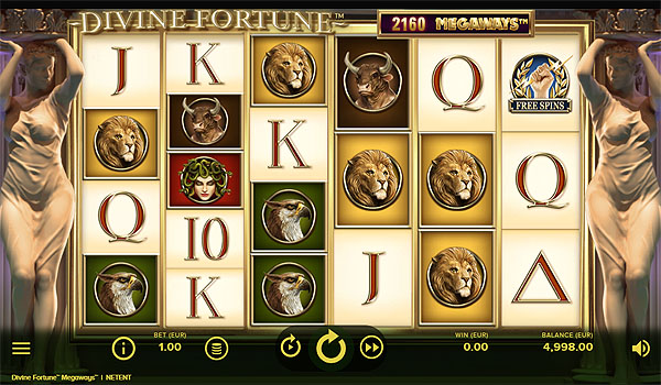 Main Gratis Slot Indonesia - Divine Fortune Megaways NetEnt