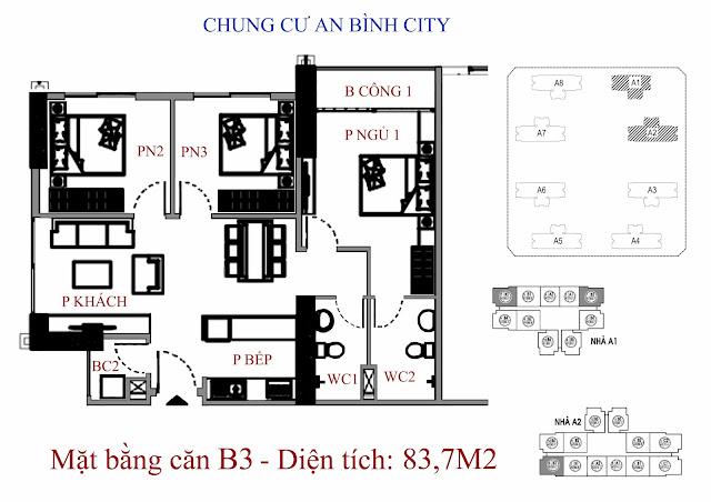 Căn B3 83m An Bình City