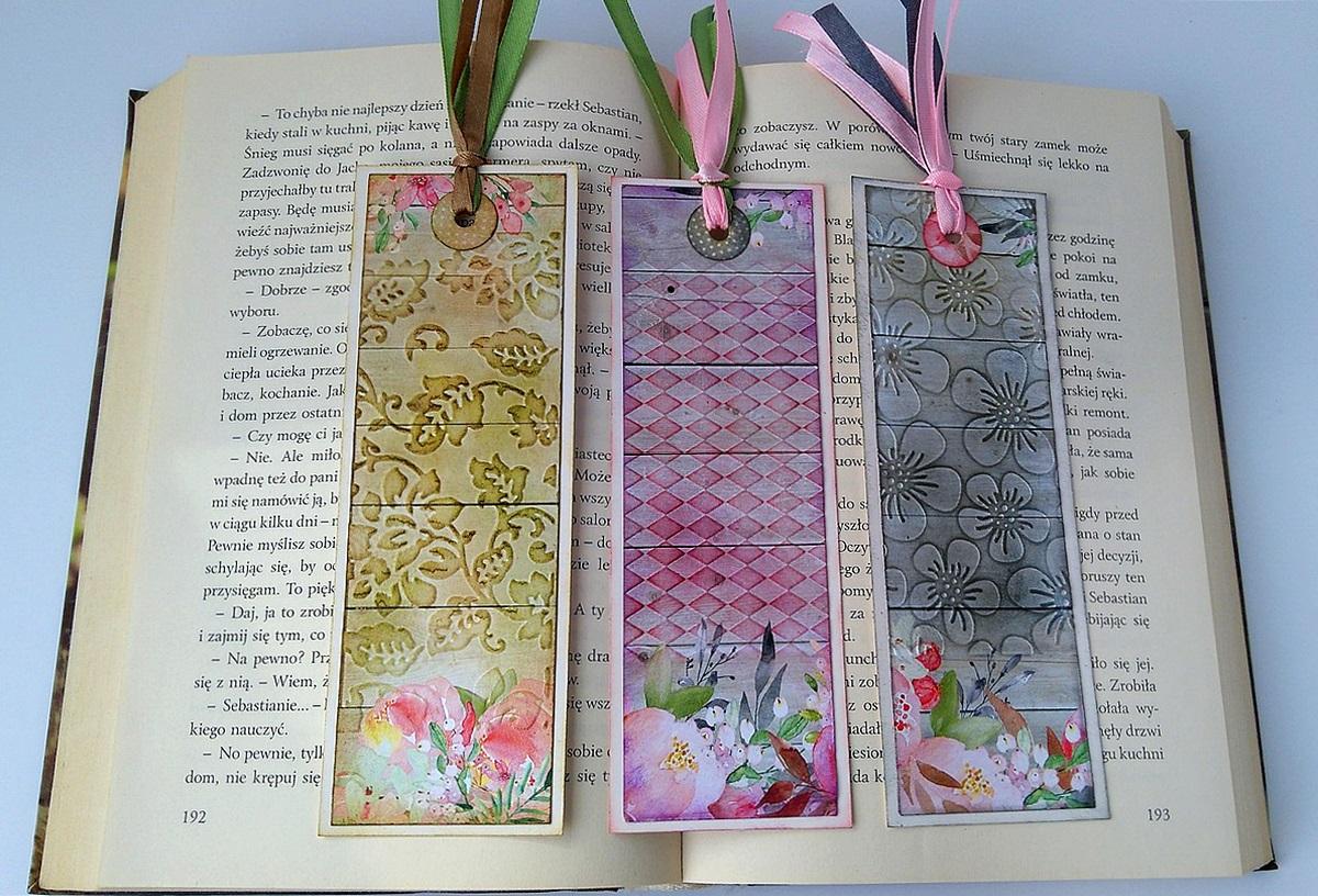 zakładki do książki handmade