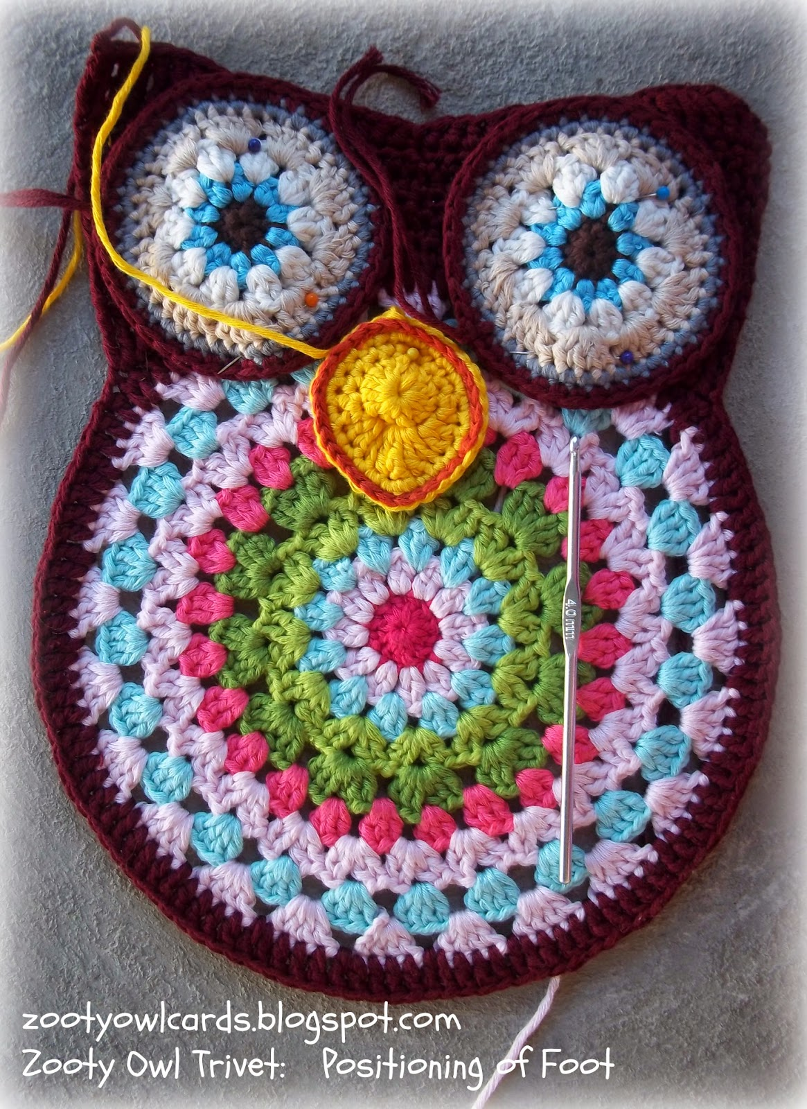 Zooty Owl S Crafty Blog Zooty Owl Trivets Pattern