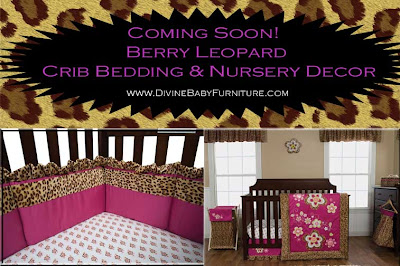 Divine Baby Furniture Berry Leopard Crib Bedding By Trend Lab