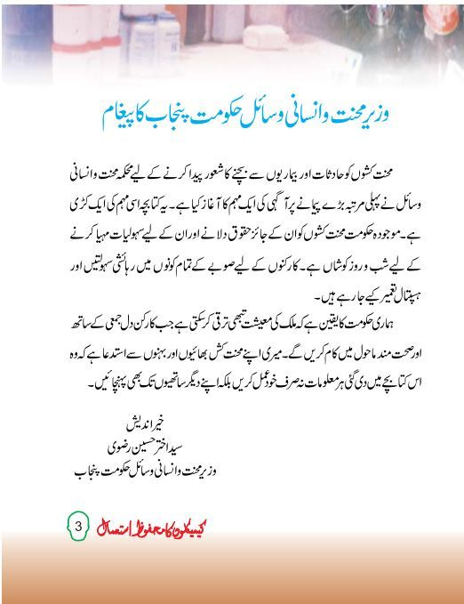 Chemical Safety Urdu Book