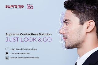 Biometría facial sin contacto