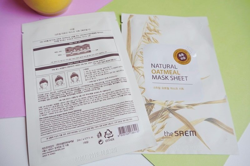The Saem Natural Oatmeal Mask Sheet, oatmeal, sheet mask, korean skin care, the saem