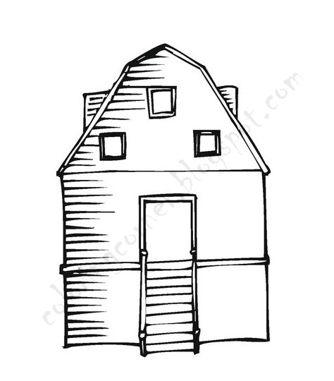 printable coloring pages barn coloring pages