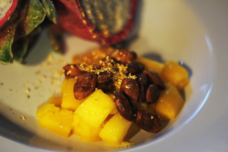 mango gebranntemanden dinner vegan