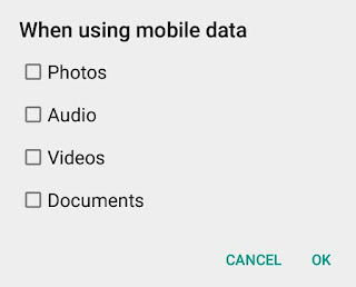 Stop auto media downloading