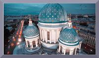 En route pour Saint Petersbourg et Moscou sous la neige, filmées depuis un drone