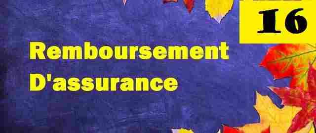Ecriture comptable de remboursement d'assurance