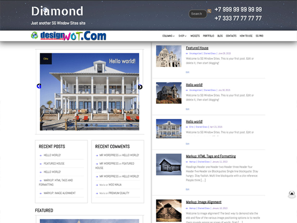 DIAMOND Responsive WordPress Theme