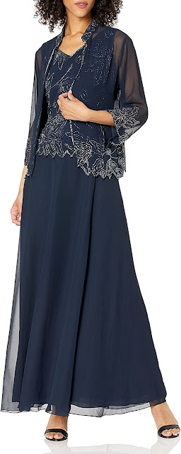 Gorgeous Navy Blue Mother of The Groom Dresses