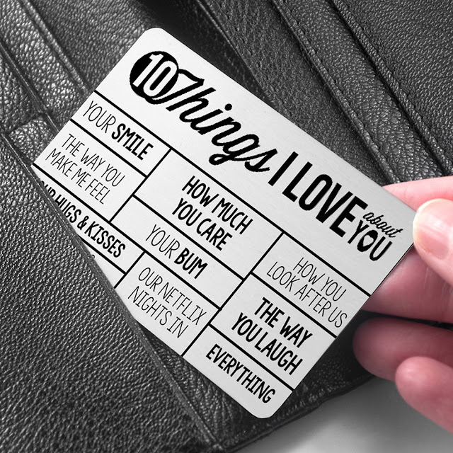 10 things I love about your wallet insert