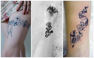 tattoo notas mujer