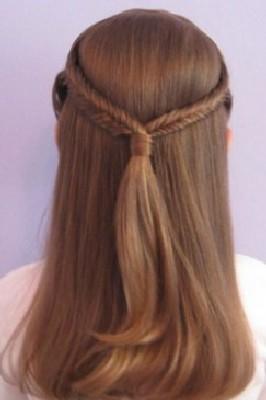 rambut double twist