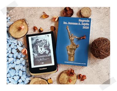 """Recenzja powieści nominowanej do Nagrody Fandomu im. J. Zajdla 2019 """"Openminder. Tom 1. Koty"""" Magdaleny Świerczek-Gryboś."""