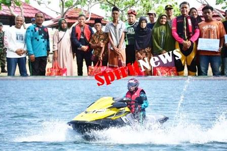 Gubernur Sulsel Bersama Pangdam Hsn, Touring Jetski Makassar-Parepare Dirangkaikan Dengan Baksos