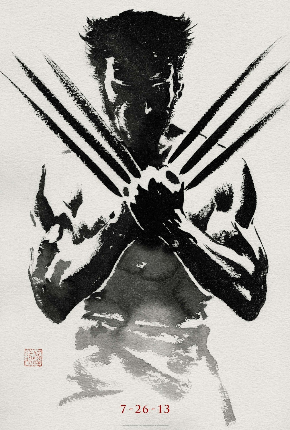 The Wolverine Movie poster...the awesome one that looks like a Japanese print