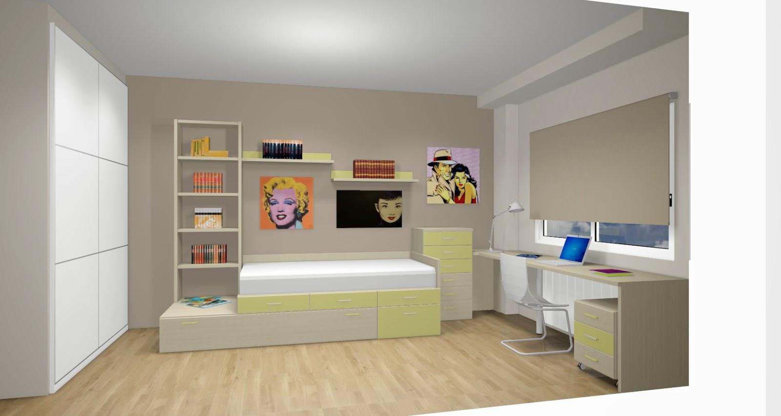 Dise o de cuartos o dormitorios juveniles for Disenos de paredes para dormitorios